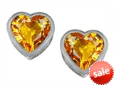 Original Star K™ 7mm Heart Shape Genuine Citrine Heart Earrings Studs style: 307051