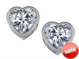 Original Star K™ 7mm Heart Shape Genuine White Topaz Heart Earrings Studs style: 307055