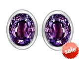 Original Star K™ 8x6mm Oval Simulated Alexandrite Earrings Studs style: 307070