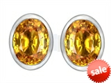 Original Star K™ 8x6mm Oval Genuine Citrine Earrings Studs style: 307072
