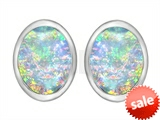 Original Star K™ 8x6mm Oval Created Opal Earring Studs