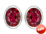 Original Star K™ 8x6mm Oval Created Ruby Earrings Studs style: 307081