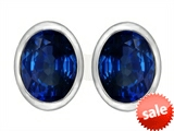 Original Star K™ 8x6mm Oval Created Sapphire Earrings Studs style: 307082