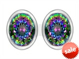 Original Star K™ 8x6mm Oval Mystic Rainbow Topaz Earrings Studs style: 307085