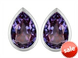 Original Star K™ 9x6mm Pear Shape Simulated Alexandrite Earrings Studs style: 307089