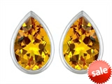 Original Star K™ 9x6mm Pear Shape Genuine Citrine Earrings Studs style: 307091