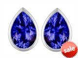 Original Star K™ 9x6mm Pear Shape Simulated Tanzanite Earrings Studs style: 307102