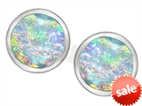 Original Star K™ 7mm Round Created Opal Earrings Studs style: 307140