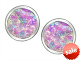 Original Star K™ 7mm Round Created Pink Opal Earring Studs