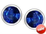 Original Star K™ 7mm Round Created Sapphire Earrings Studs style: 307144