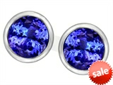 Original Star K™ 7mm Round Simulated Tanzanite Earrings Studs style: 307145