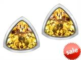 Original Star K™ 7mm Trillion Cut Genuine Citrine Earrings Studs style: 307151