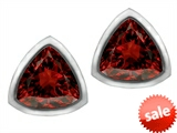 Original Star K™ 7mm Trillion Cut Simulated Garnet Earrings Studs style: 307152