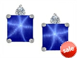 Original Star K™ 7mm Square Cut Created Star Sapphire Earrings Studs style: 307173