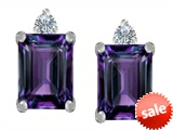Original Star K™ 8x6mm Emerald Octagon Cut Simulated Alexandrite Earrings Studs style: 307176