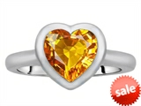 Original Star K™ 8mm Heart Shape Solitaire Engagement Ring With Genuine Citrine