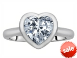 Original Star K™ 8mm Heart Shape Solitaire Engagement Ring With Genuine White Topaz