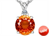 Original Star K™ Large 12mm Round Simulated Orange Mexican Fire Opal Pendant
