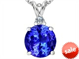 Original Star K™ Large 12mm Round Simulated Tanzanite Pendant