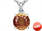 Original Star K™ Large 12mm Round Simulated Imperial Yellow Topaz Pendant style: 307246