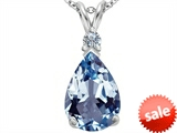 Original Star K™ Large 14x10mm Pear Shape Simulated Aquamarine Pendant style: 307251