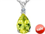 Original Star K™ Large 14x10mm Pear Shape Simulated Peridot Pendant style: 307259