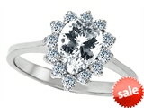 Original Star K™ 8x6mm Pear Shape Genuine White Topaz Engagement Ring style: 307273