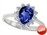 Original Star K™ 8x6mm Pear Shape Created Sapphire Engagement Ring