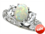 Original Star K™ 9x7mm Oval Created Opal Engagement Ring style: 307277
