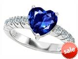 Original Star K™ 8mm Heart Shape Created Sapphire Engagement Ring style: 307287