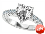 Original Star K™ 8mm Heart Shape Genuine White Topaz Engagement Ring style: 307289