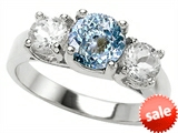 Original Star K™ 7mm Round Simulated Aquamarine Engagement Ring style: 307290