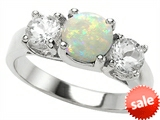 Original Star K™ 7mm Round Simulated Opal Engagement Ring style: 307291