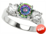 Original Star K™ 7mm Round Rainbow Mystic Topaz Engagement Ring style: 307292