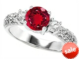 Original Star K™ 7mm Round Created Ruby Engagement Ring style: 307298