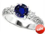 Original Star K™ 7mm Round Created Sapphire Engagement Ring style: 307300