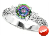 Original Star K™ 7mm Round Rainbow Mystic Topaz Engagement Ring style: 307301