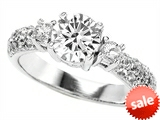 Original Star K™  7mm Round Genuine White Topz  Engagement Ring