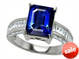 Original Star K™ 10x8mm Emerald Cut Created Sapphire Engagement Ring style: 307305