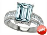 Original Star K™ 10x8mm Emerald Cut Simulated Aquamarine Engagement Ring style: 307306