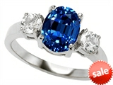 Original Star K™ 9x7mm Oval Created Sapphire Engagement Ring style: 307308