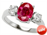 Original Star K™ 9x7mm Oval Created Ruby Engagement Ring style: 307309