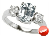 Original Star K™ 9x7mm Oval Genuine White Topaz Engagement Ring style: 307312