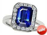 Original Star K™ 10x8mm Emerald Cut Created Sapphire Engagement Ring style: 307316