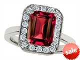 Original Star K™ 10x8mm Emerald Cut Created Ruby Engagement Ring