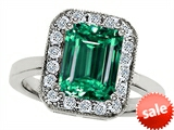 Original Star K™ 10x8mm Emerald Cut Simulated Emerald Engagement Ring style: 307318