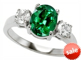 Original Star K™ 9x7mm Oval Simulated Emerald Engagement Ring style: 307321