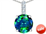 Original Star K™ Large 12mm Round Simulated Emerald Pendant style: 307343