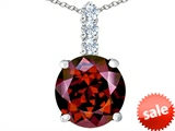 Original Star K™ Large 12mm Round Simulated Garnet Pendant