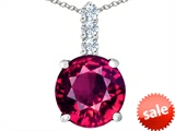 Original Star K™ Large 12mm Round Created Ruby Pendant
